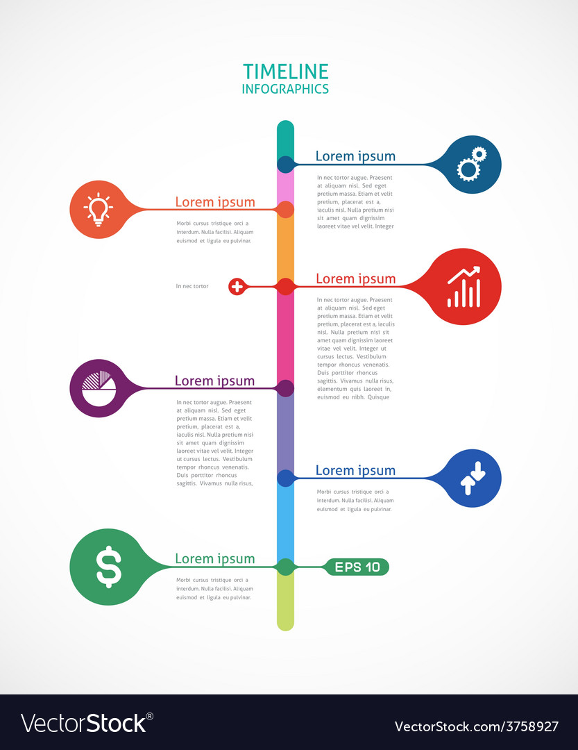 Colorful timeline infographics vector | Price: 1 Credit (USD $1)
