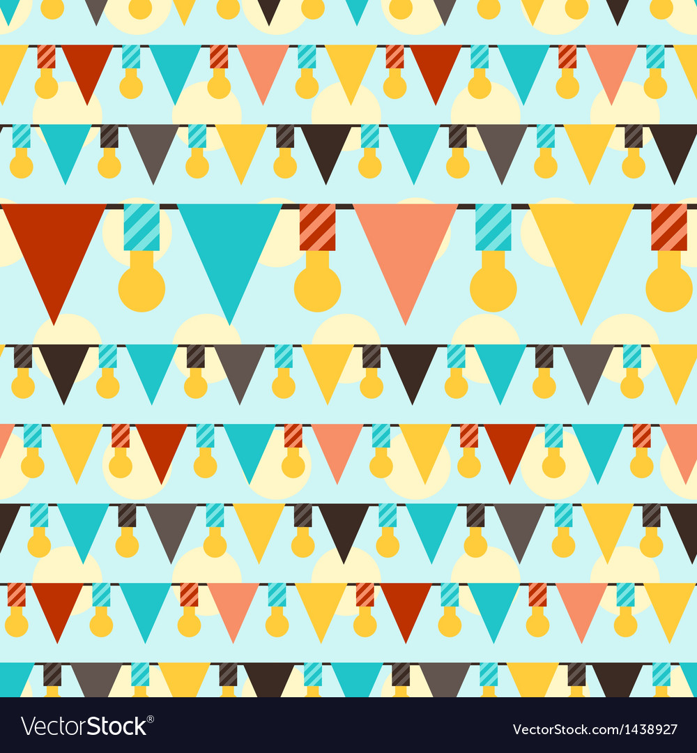 Happy birthday party seamless pattern with vector | Price: 1 Credit (USD $1)