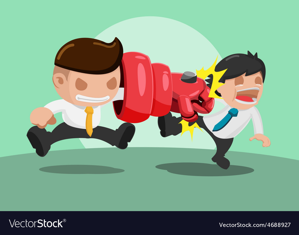 Man iron punch attack strong vector | Price: 3 Credit (USD $3)