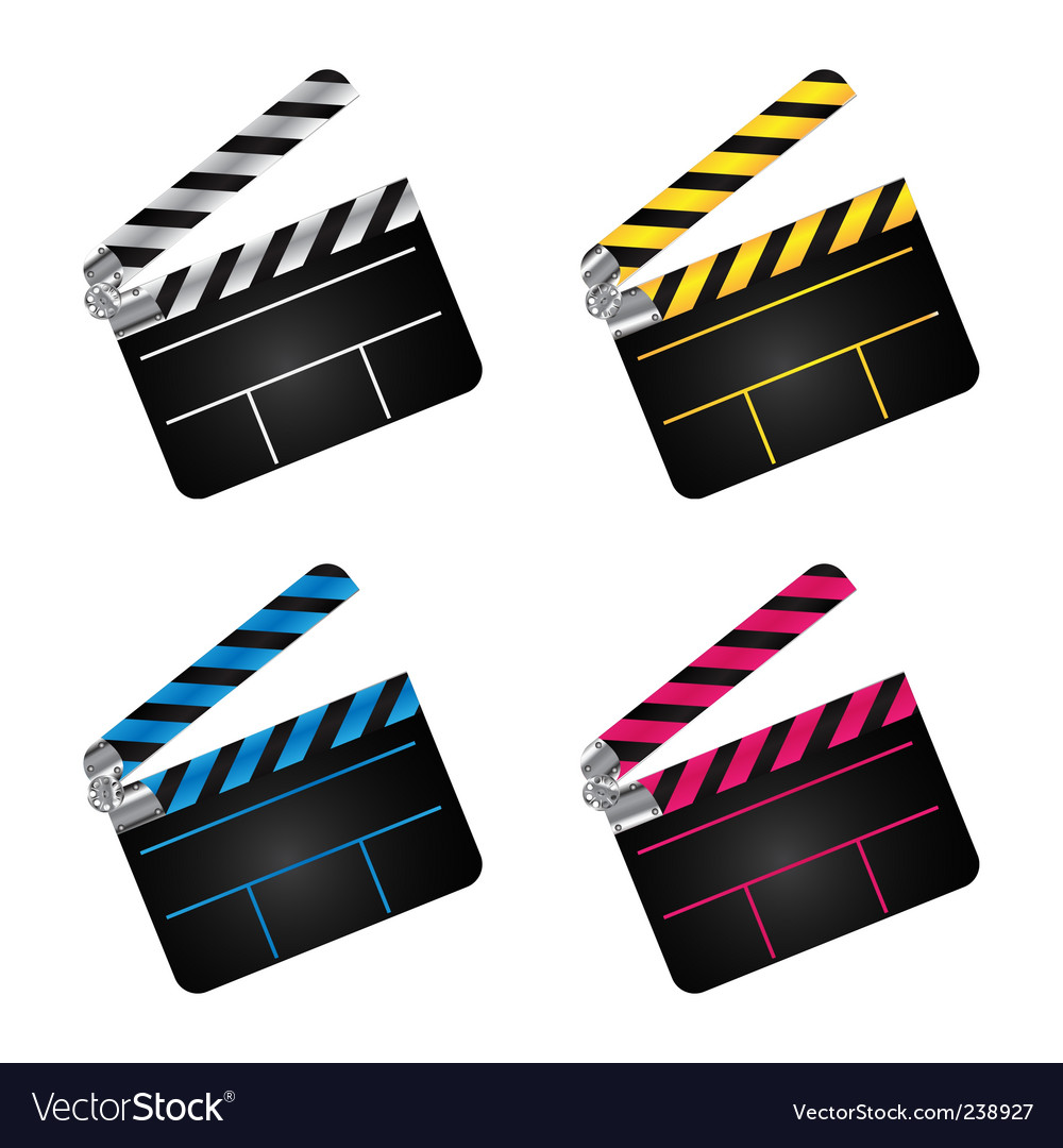 Movie clapper boards vector | Price: 1 Credit (USD $1)