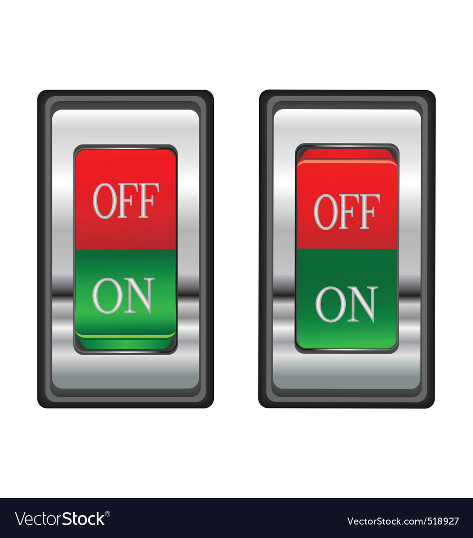 Onoff red switch button vector | Price: 1 Credit (USD $1)