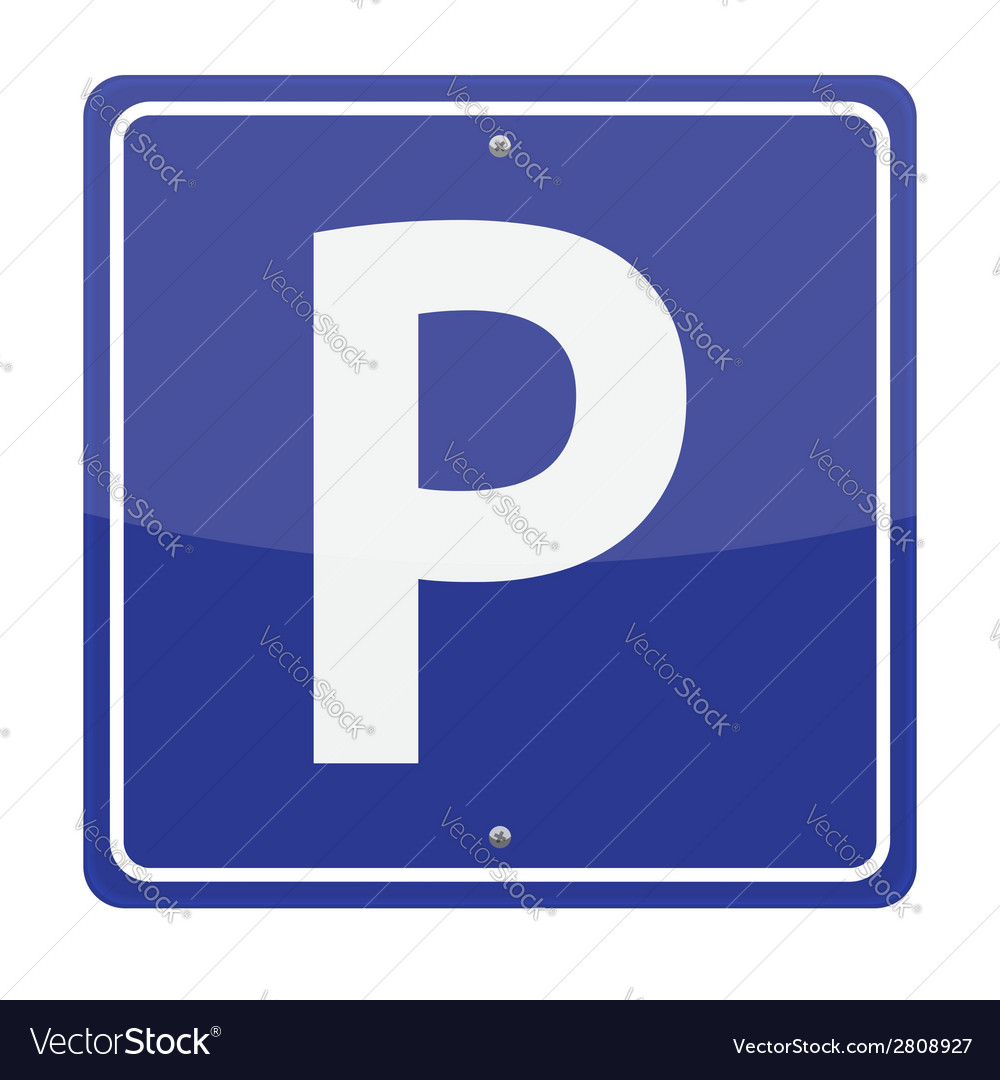 Parking sign vector | Price: 1 Credit (USD $1)
