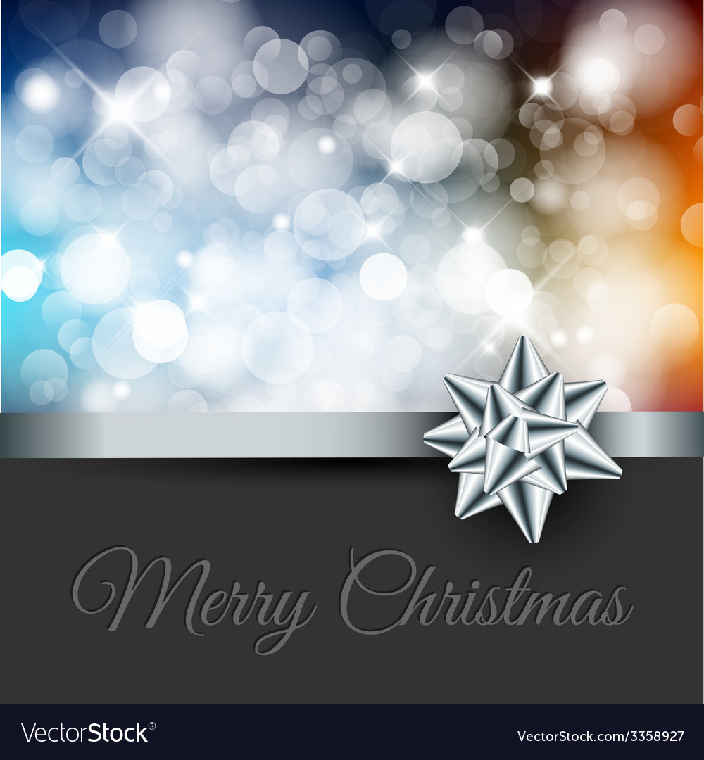 Retro christmas label on blurred background vector | Price: 1 Credit (USD $1)