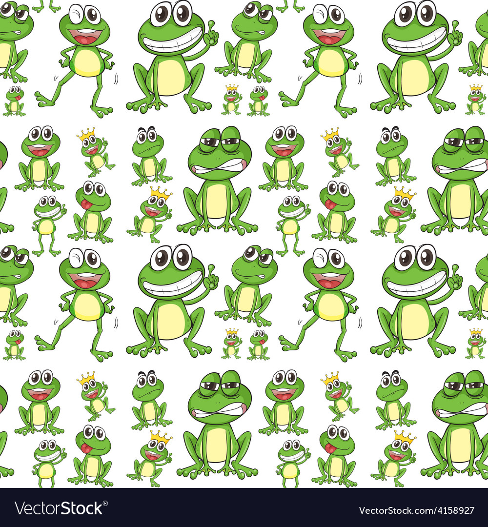 Seamless frog vector | Price: 3 Credit (USD $3)