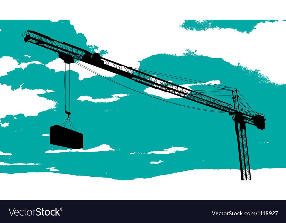 Tower crane sketch vector | Price: 1 Credit (USD $1)