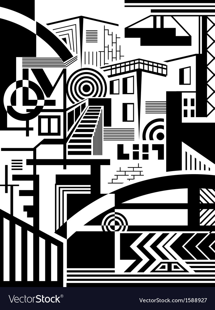 Town abstract vector | Price: 1 Credit (USD $1)