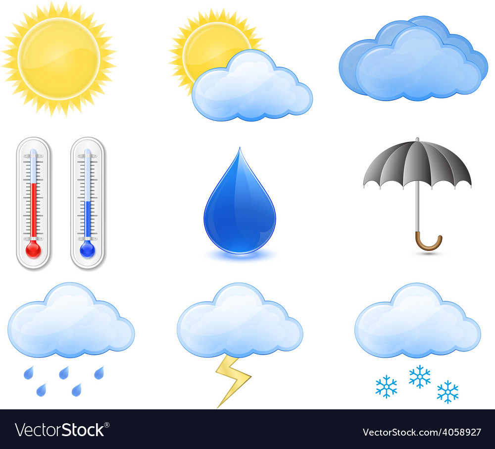 Weather forecast icons vector   Price: 1 Credit (USD $1)