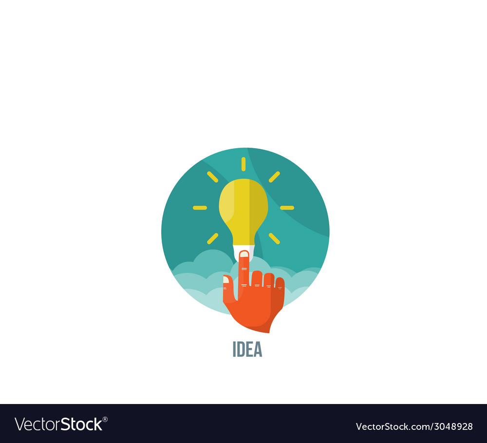 Bulb icon with innovation idea vector | Price: 1 Credit (USD $1)