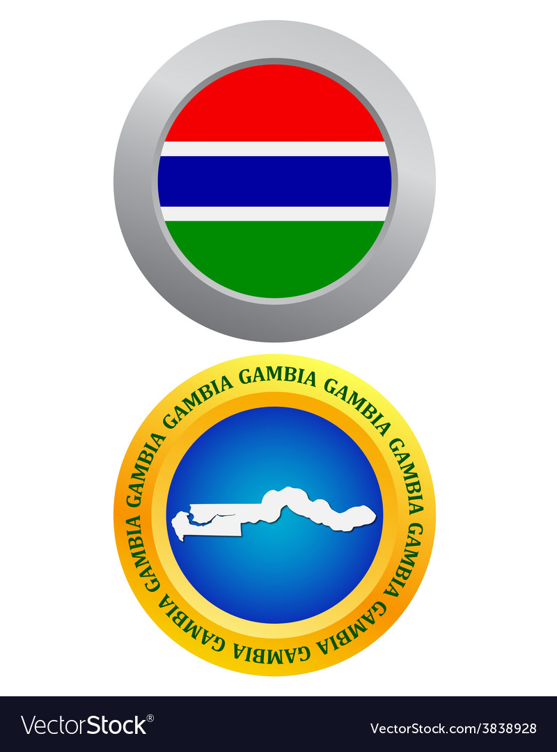Button as a symbol gambia vector | Price: 1 Credit (USD $1)