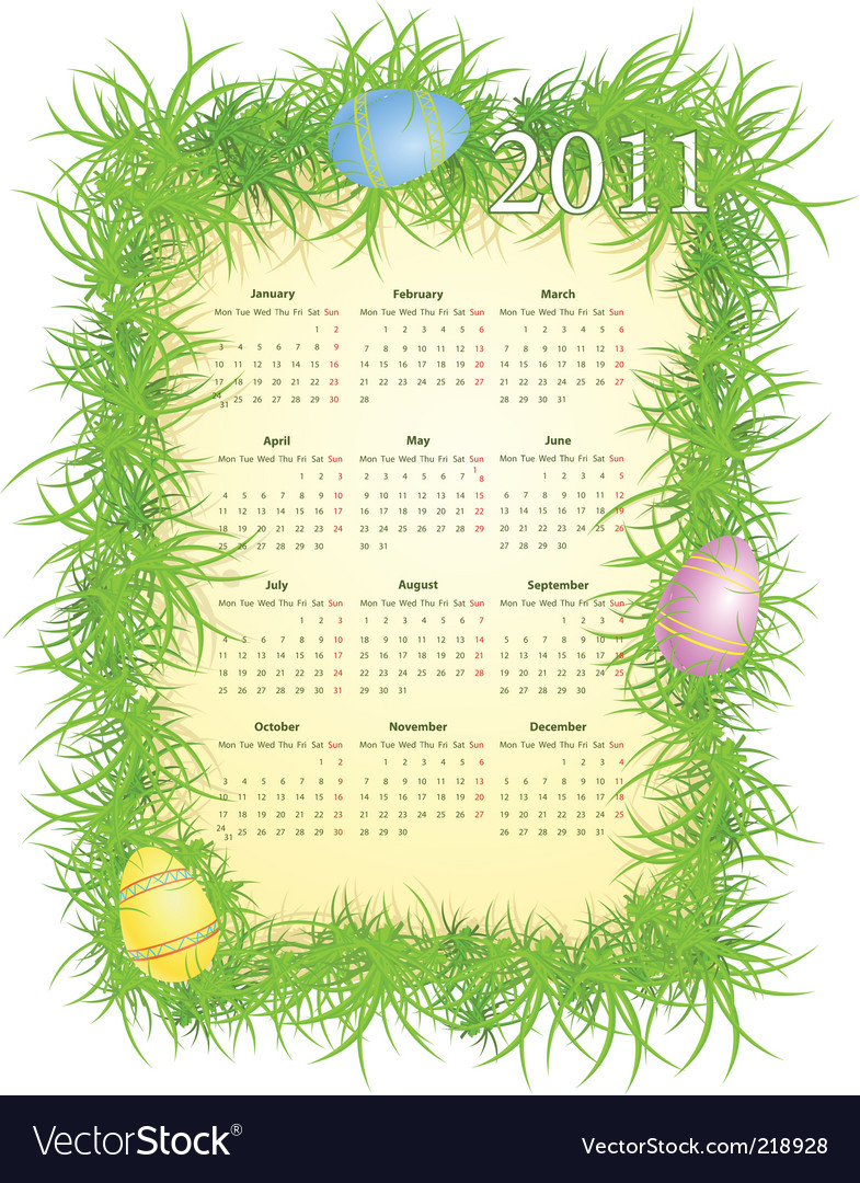 Calendar 2011 vector | Price: 1 Credit (USD $1)