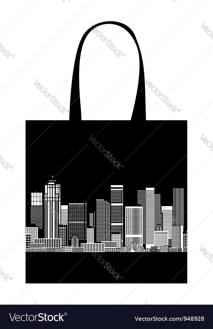 Cityscape shopping bag design urban art vector | Price: 1 Credit (USD $1)