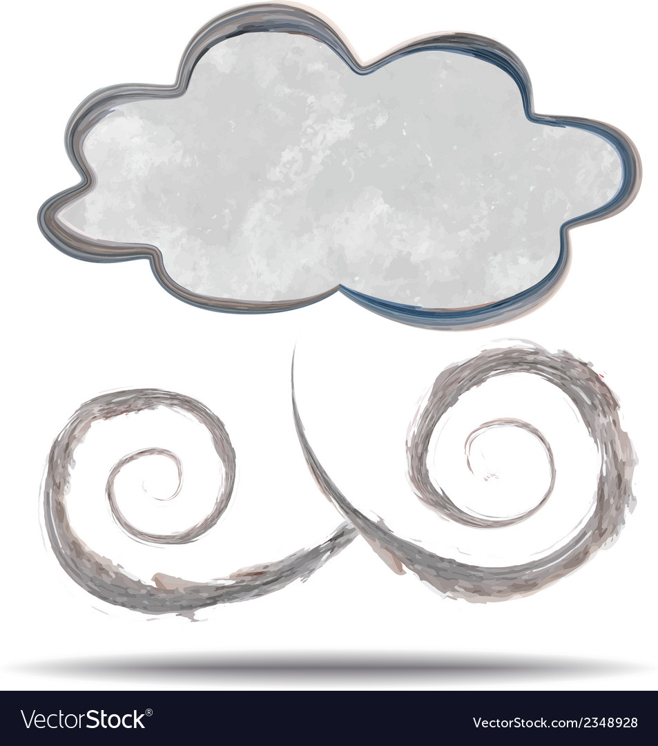 Climate cloud and wind vector | Price: 1 Credit (USD $1)