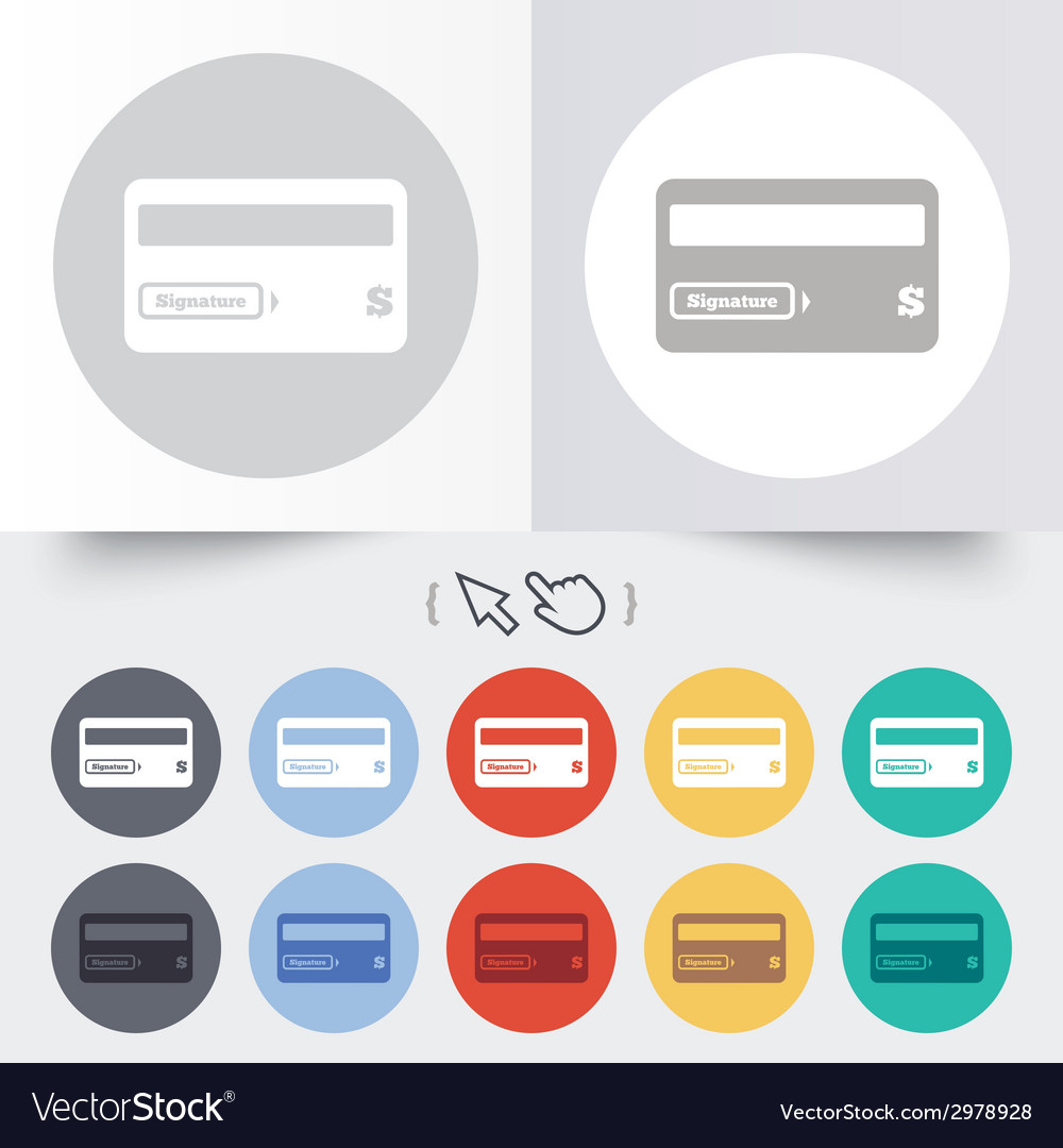 Credit card sign icon debit card symbol vector | Price: 1 Credit (USD $1)