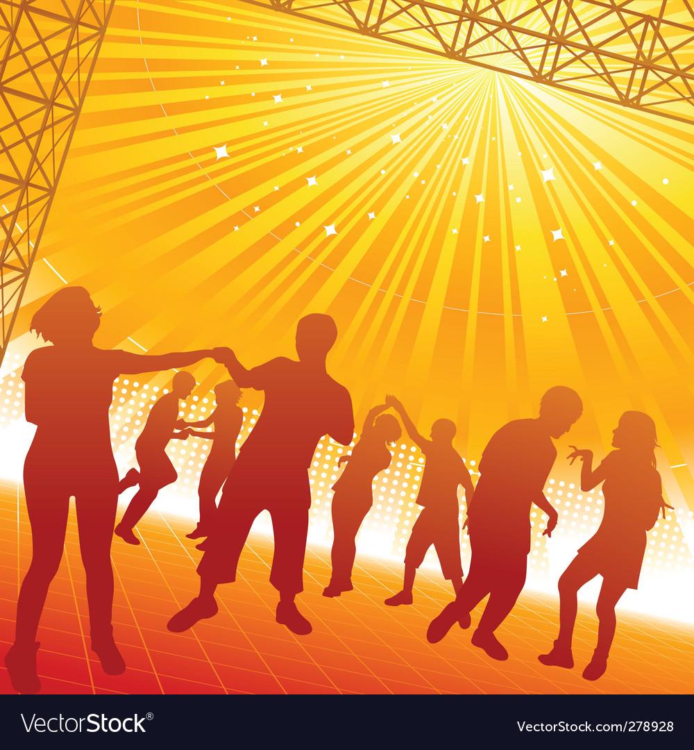Dancing people vector | Price: 1 Credit (USD $1)
