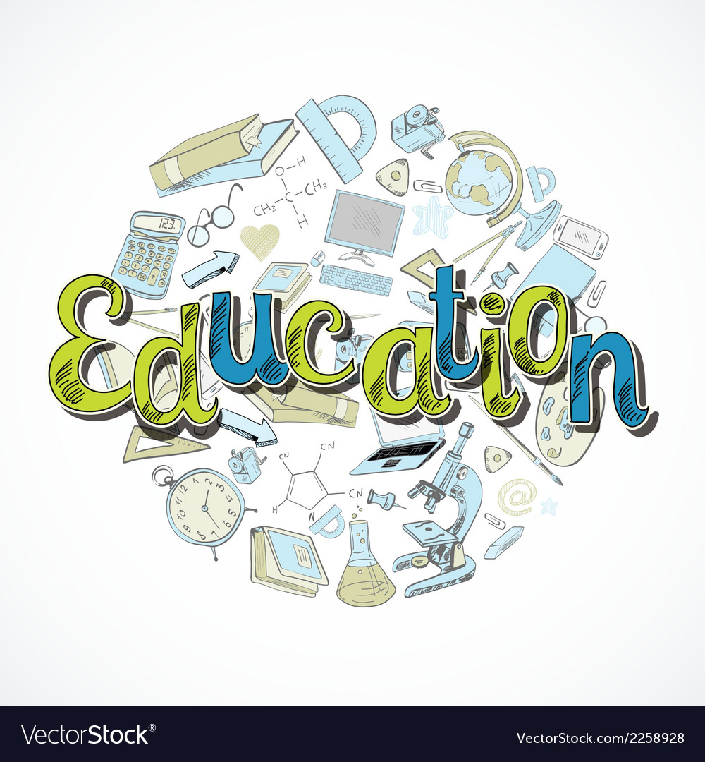 Education icon doodle vector | Price: 1 Credit (USD $1)