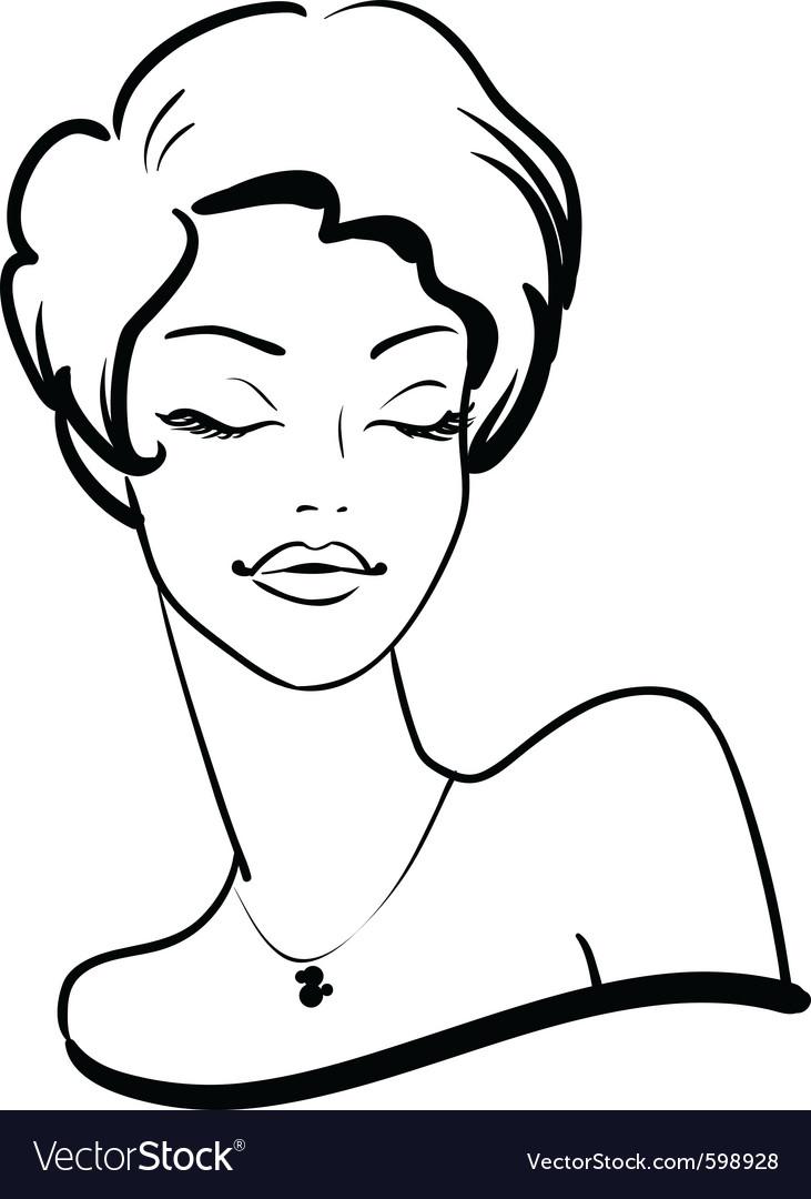 Fashion female portrait vector | Price: 1 Credit (USD $1)