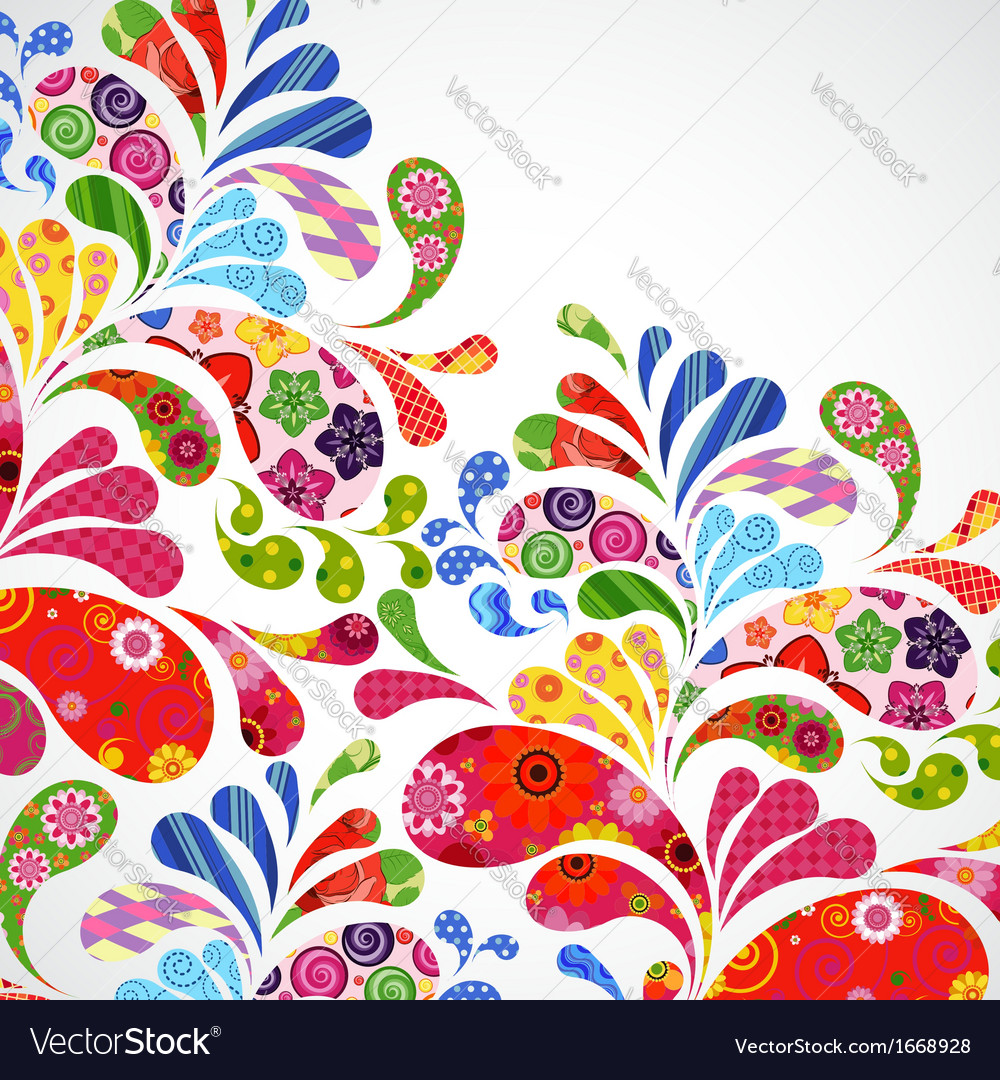 Floral and ornamental item background vector | Price: 1 Credit (USD $1)