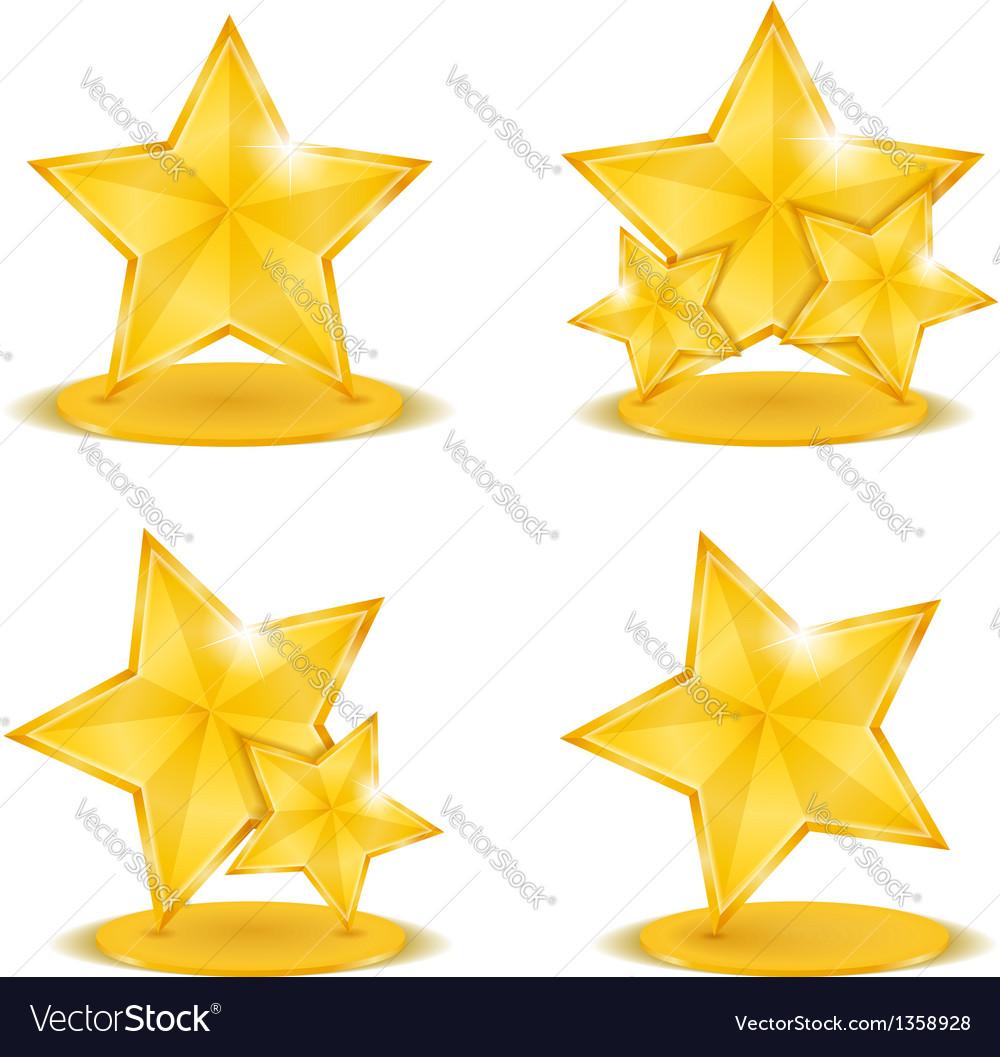 Golden stars vector | Price: 1 Credit (USD $1)