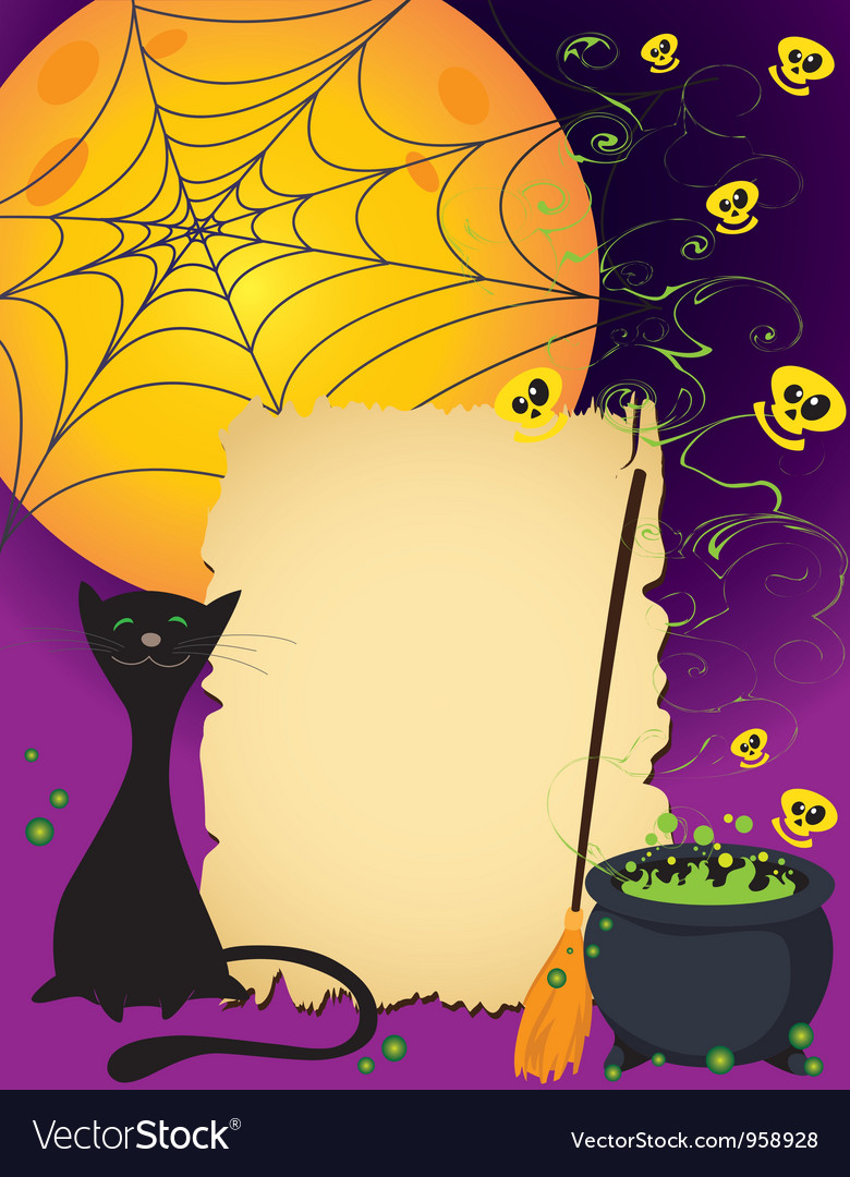 Halloween cute card vector | Price: 1 Credit (USD $1)