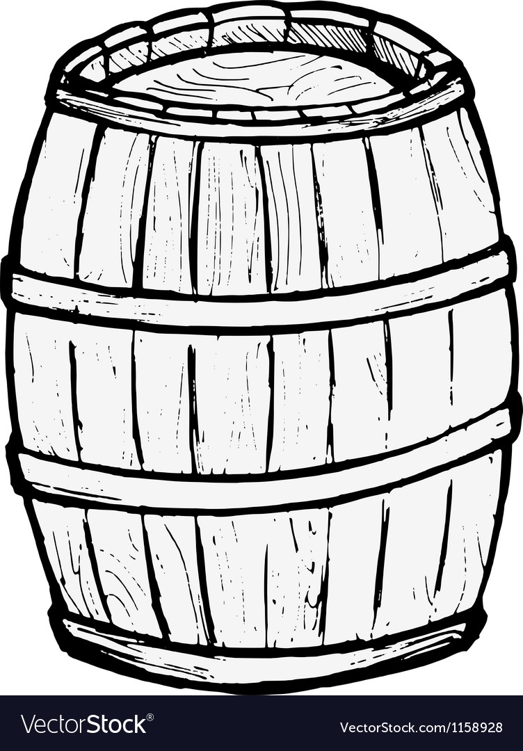 Old wooden barrel vector | Price: 1 Credit (USD $1)