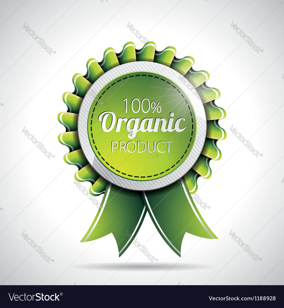 Organic product labels with shiny styled design vector | Price: 3 Credit (USD $3)