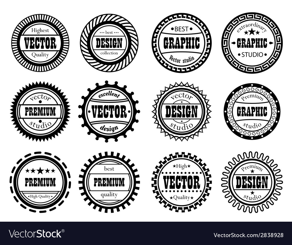 Set award stamp for studios vector | Price: 1 Credit (USD $1)