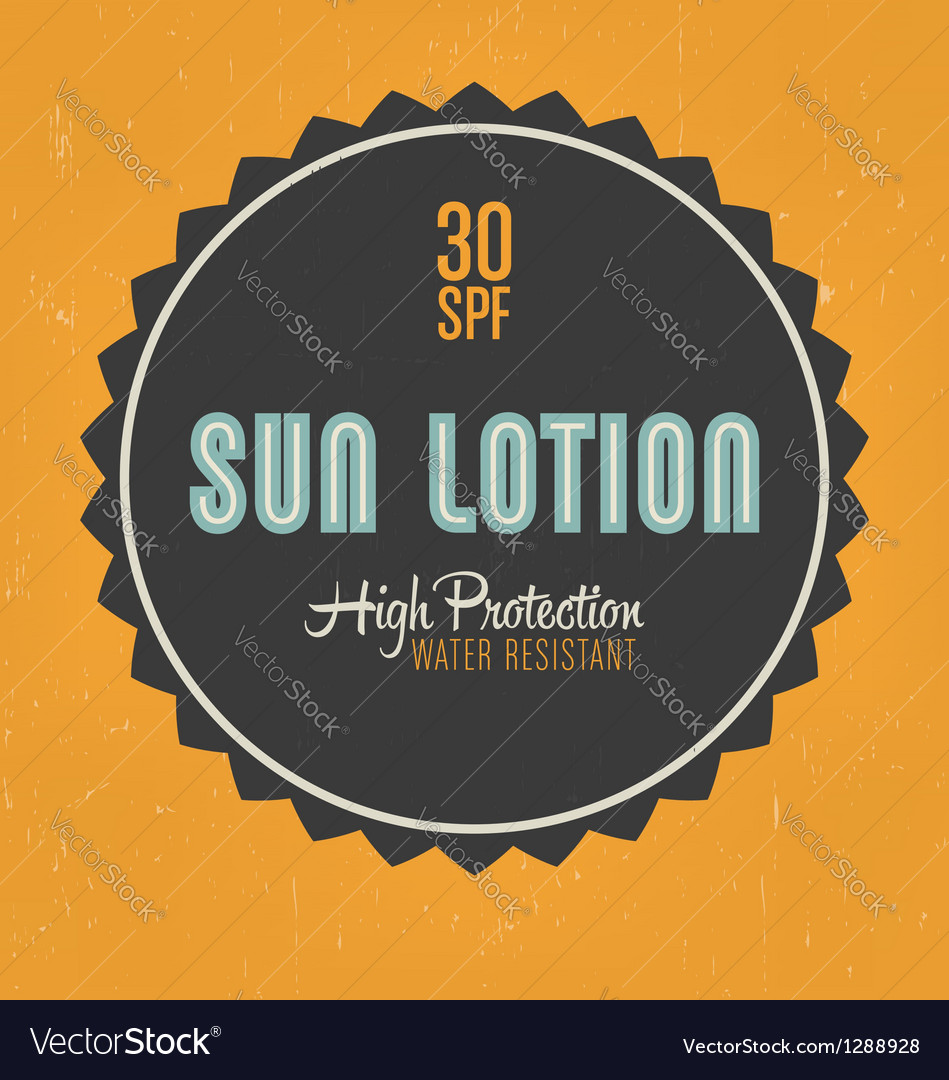 Sun lotion design vector | Price: 1 Credit (USD $1)