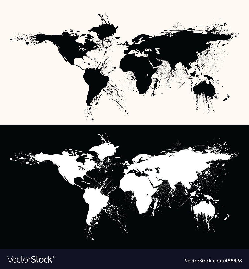World map grunge vector | Price: 1 Credit (USD $1)