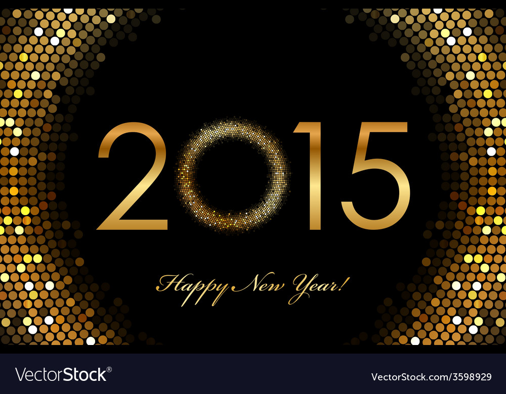 - 2015 happy new year glowing background vector | Price: 1 Credit (USD $1)
