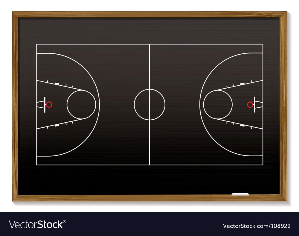 Basketball blackboard vector | Price: 1 Credit (USD $1)
