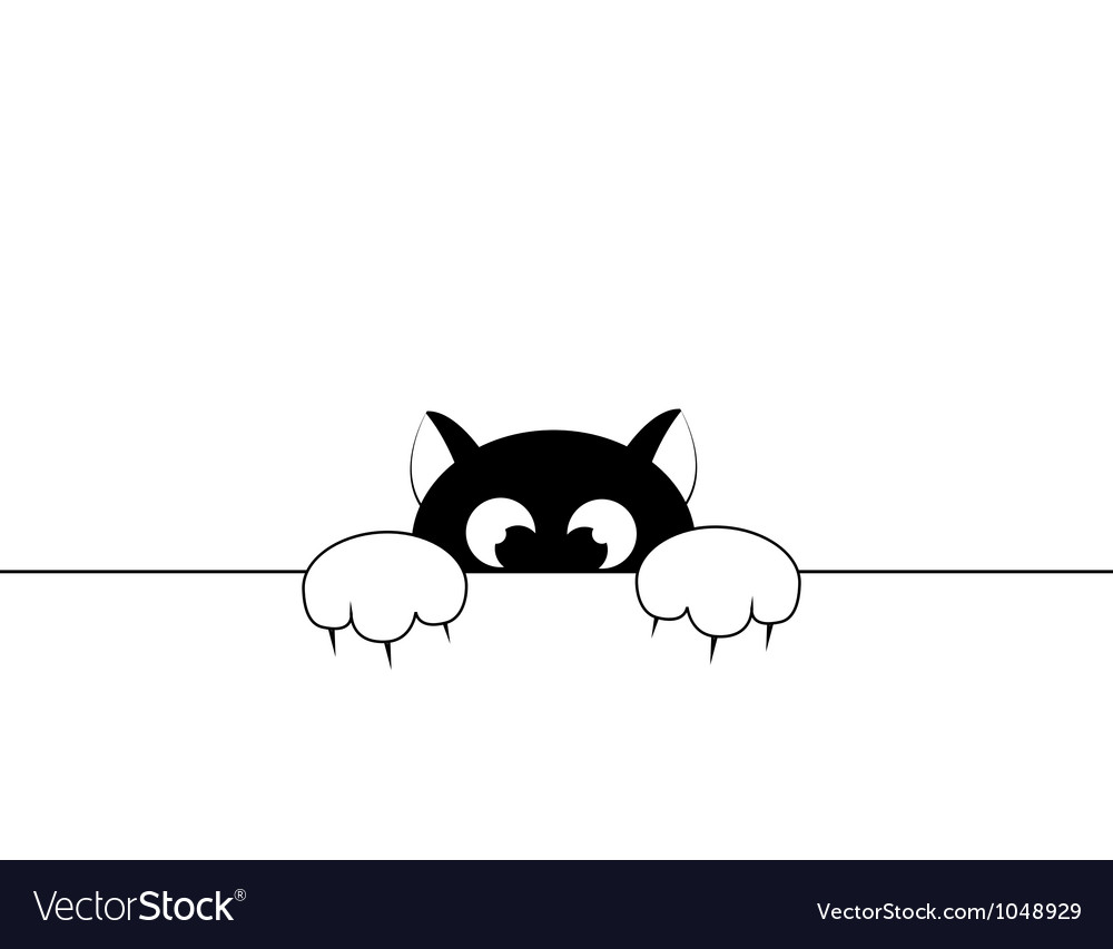 Black smal cat vector | Price: 1 Credit (USD $1)