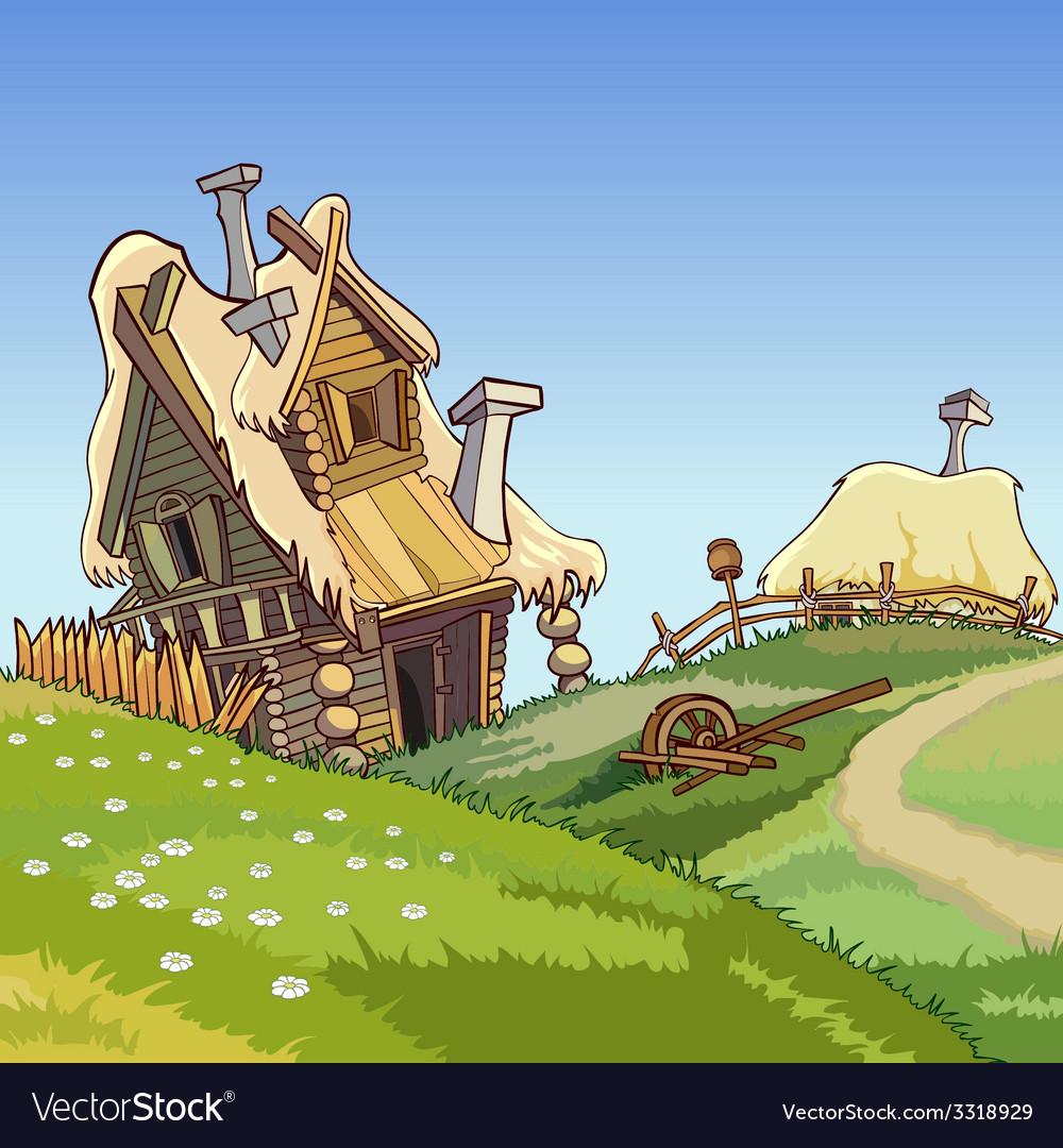 Cartoon village houses vector | Price: 5 Credit (USD $5)