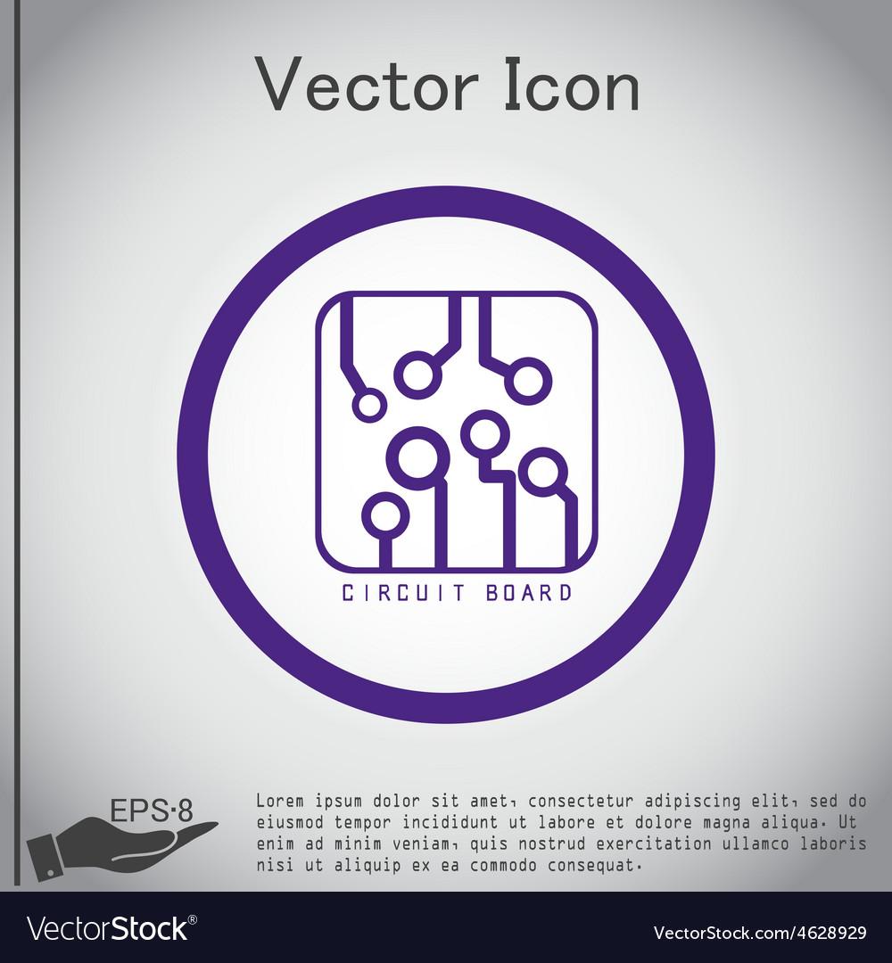 Circuit board sign icon technology scheme symbol vector | Price: 1 Credit (USD $1)