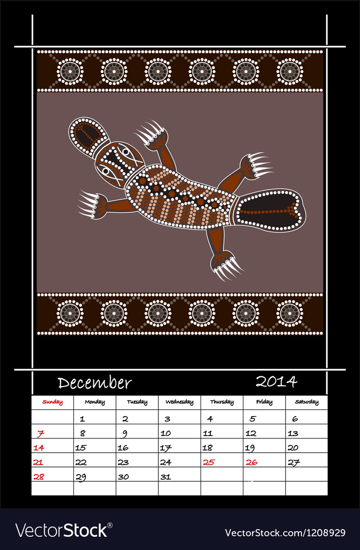 December 2014 - platypus vector | Price: 1 Credit (USD $1)
