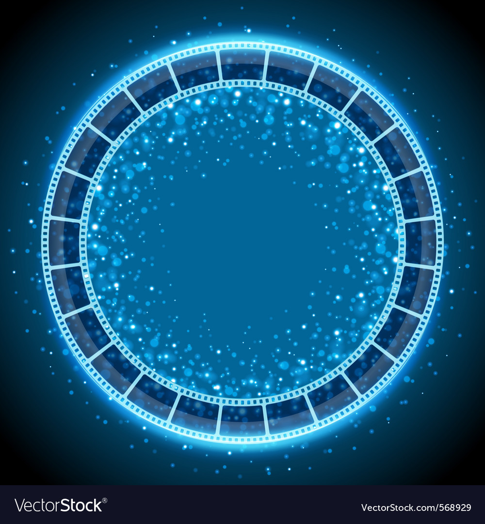 Film tape circle background vector | Price: 1 Credit (USD $1)