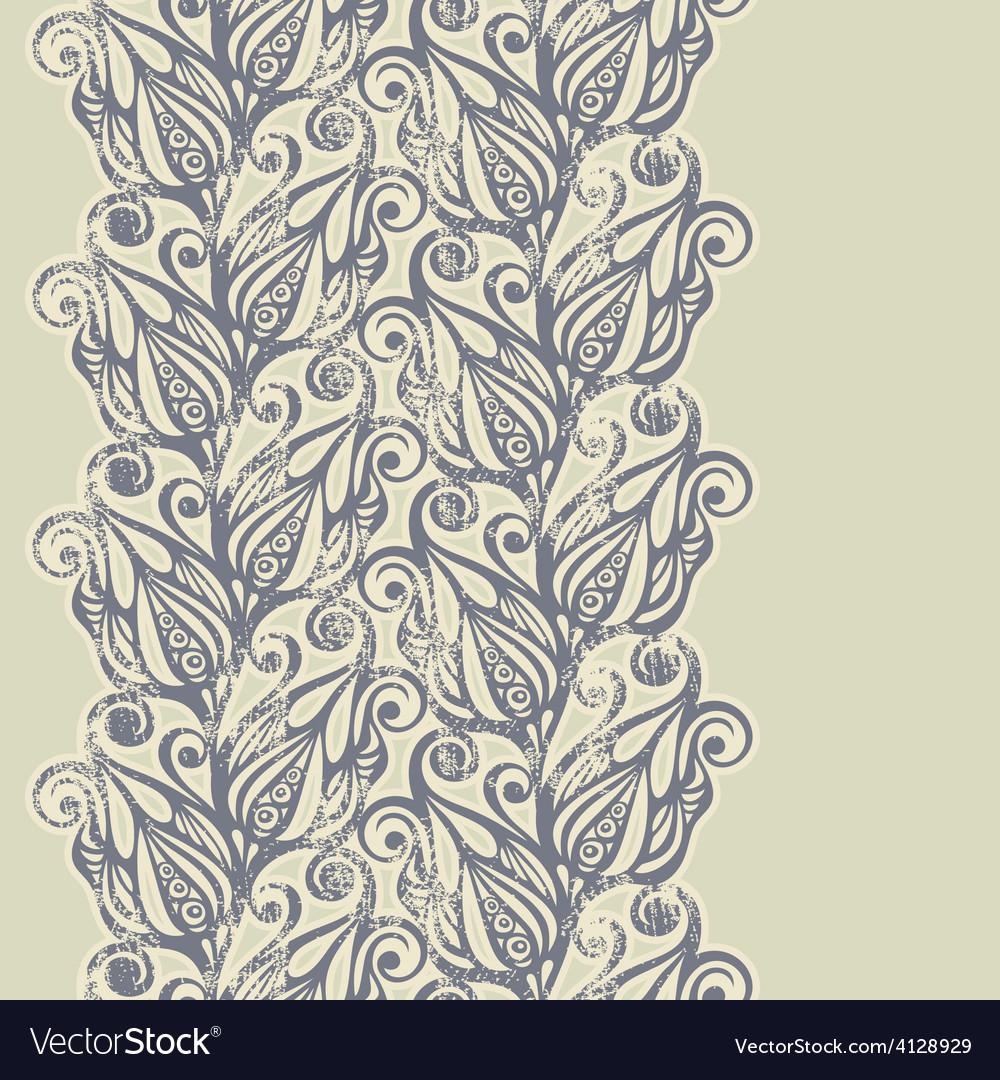 Floral design border in vintage style vector | Price: 1 Credit (USD $1)
