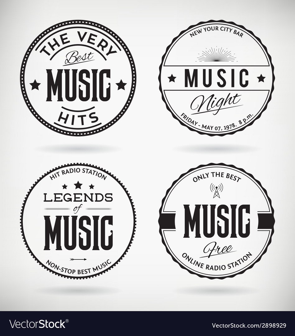Music badges vector | Price: 1 Credit (USD $1)