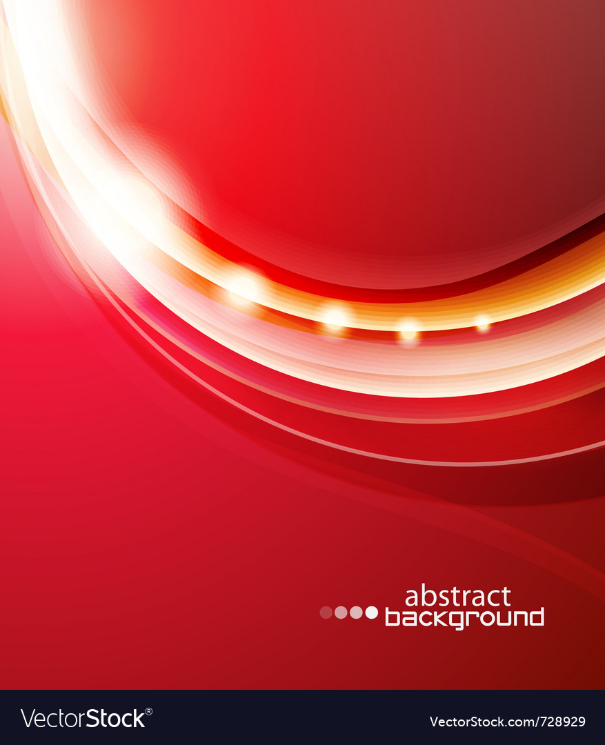 Red wave abstract background vector | Price: 1 Credit (USD $1)