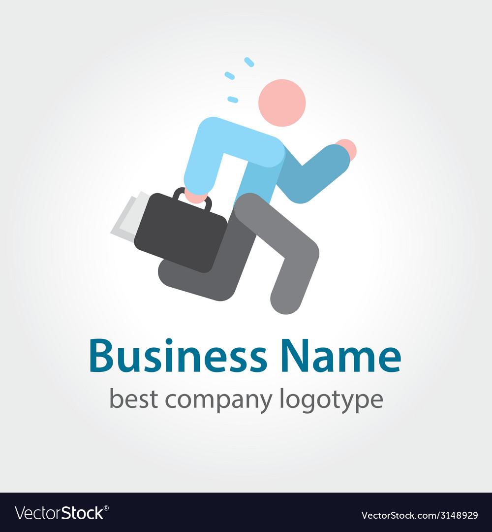 Running businessman icon logotype vector   Price: 1 Credit (USD $1)
