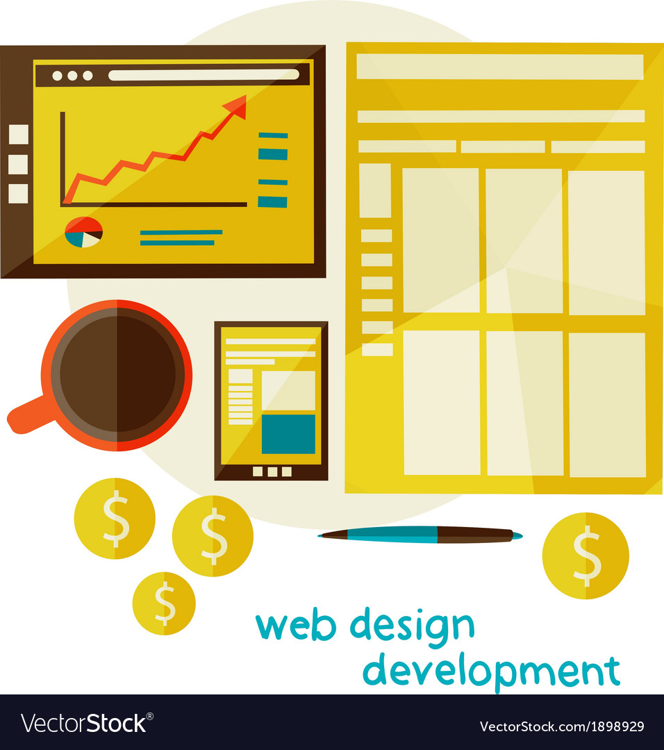 Web design development vector | Price: 1 Credit (USD $1)