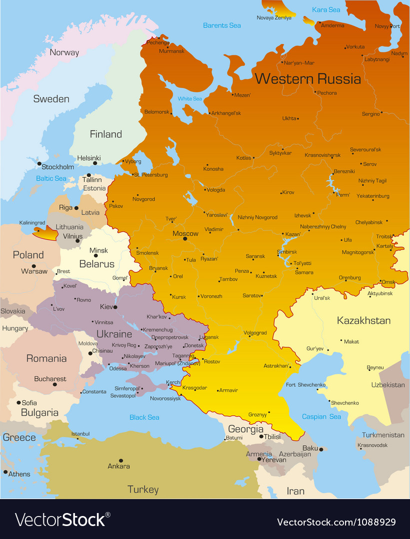 West russia region vector | Price: 1 Credit (USD $1)