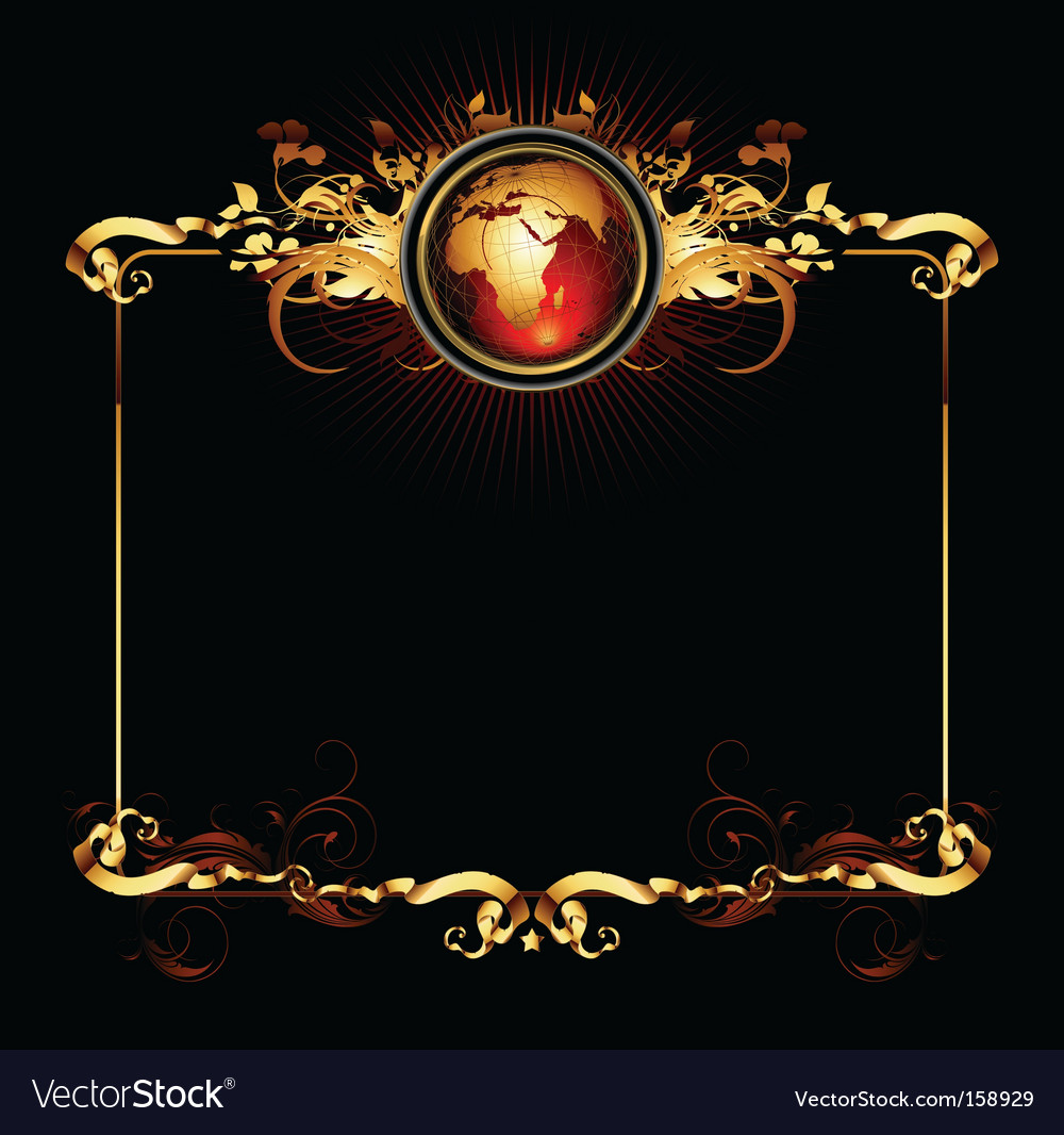 World frame vector | Price: 1 Credit (USD $1)