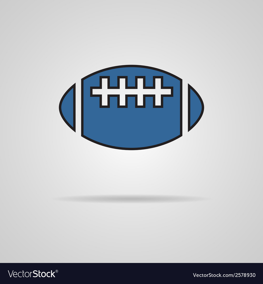 American football - rugby ball icon vector | Price: 1 Credit (USD $1)