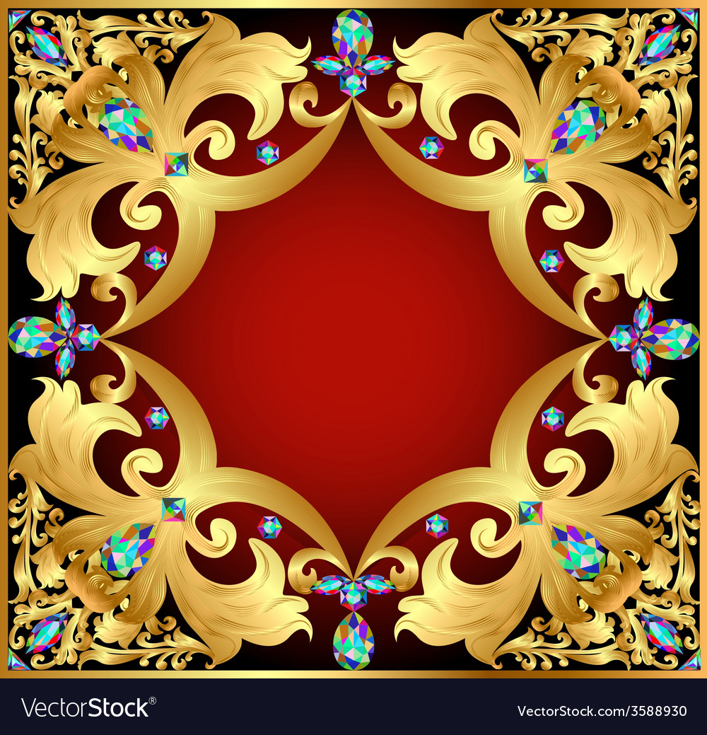 Background with red gems vector | Price: 1 Credit (USD $1)