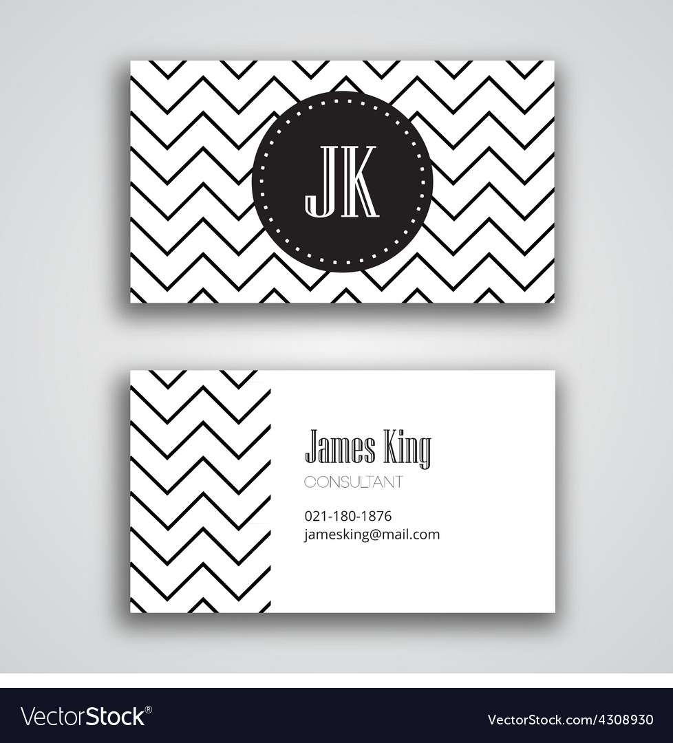 Business card template chevron vector | Price: 1 Credit (USD $1)