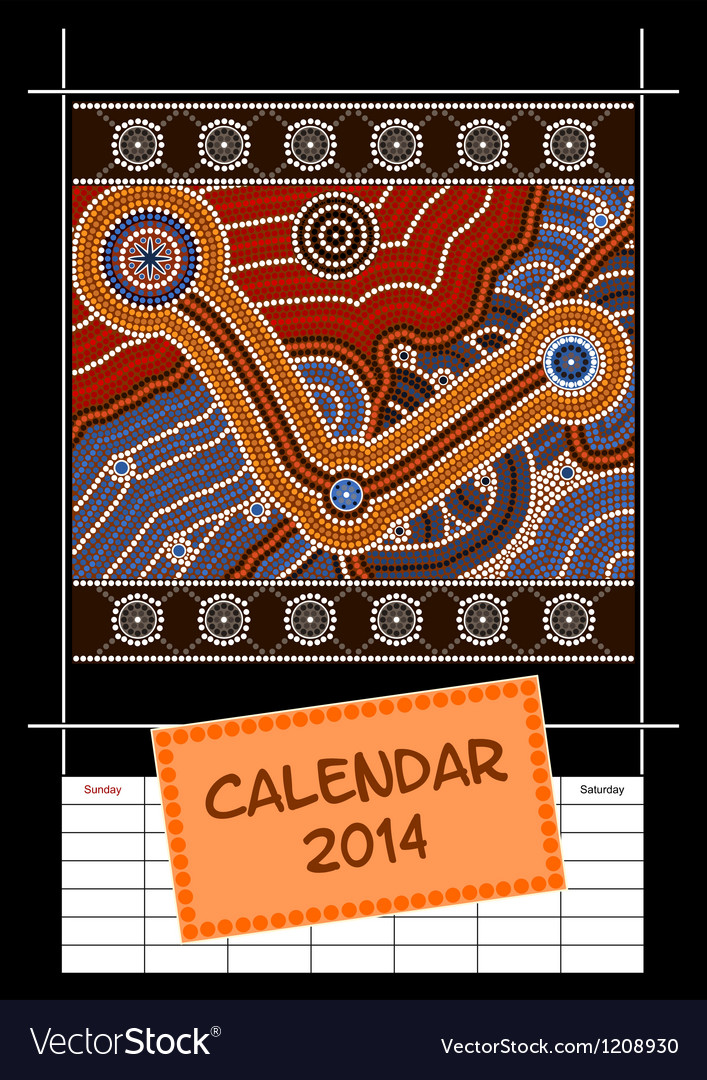 Calender cover - year 2014 vector | Price: 1 Credit (USD $1)