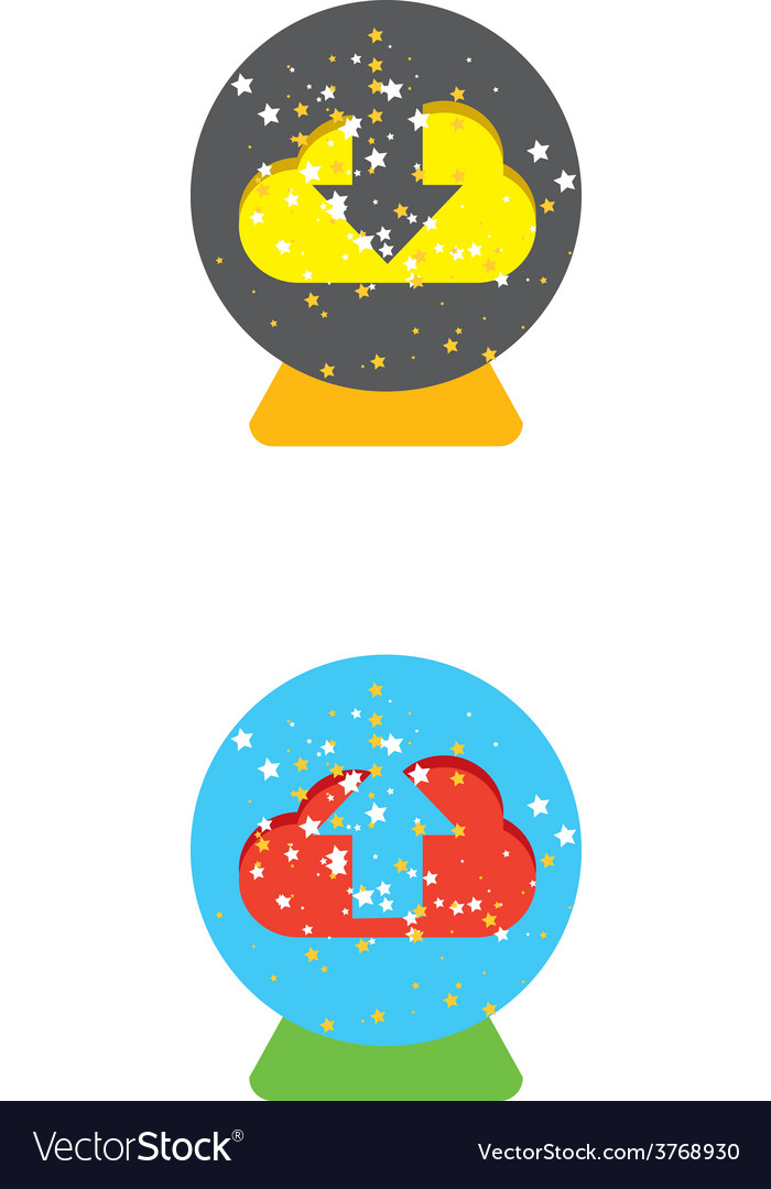 Cloud download and upload icon 21 vector | Price: 1 Credit (USD $1)