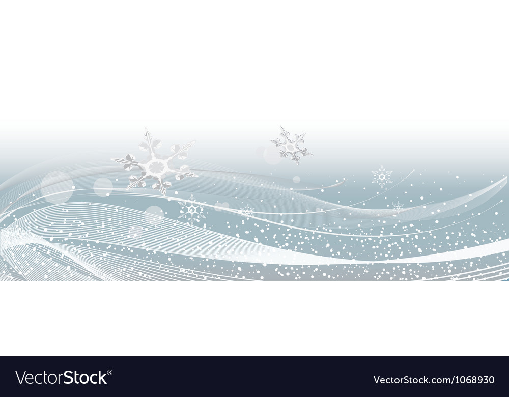 Gray snowflakes on new years background vector | Price: 1 Credit (USD $1)