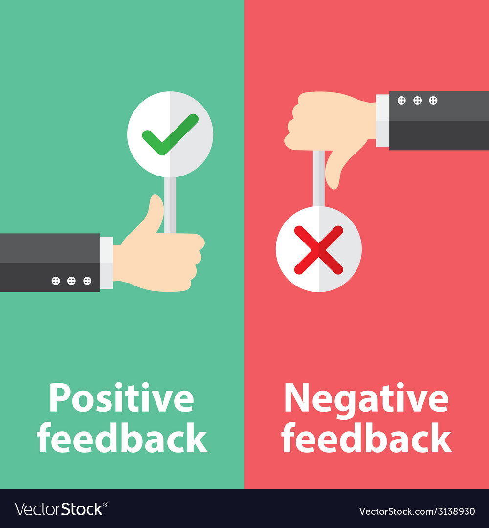 Positive and negative feedback vector