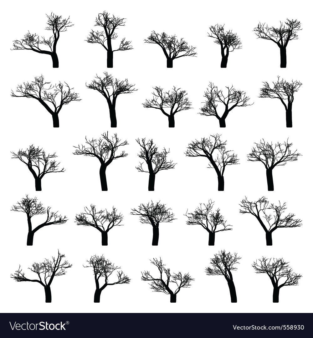 Spooky tree silhouette vector | Price: 1 Credit (USD $1)